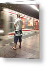 Prague Metro Greeting Card