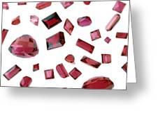 Precious Gemstones Greeting Card by Lawrence Lawry