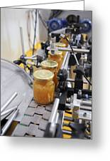 Preserve And Jam Bottling Production Line Greeting Card by Photostock-israel