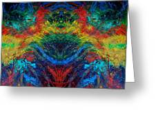 Primary Abstract IIi Design Greeting Card
