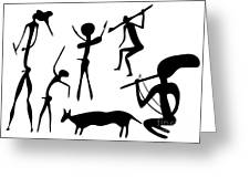 Primitive Art - Various Figures Greeting Card