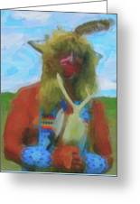 Proud Crow Warrior II Greeting Card