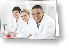 Pupils In A Science Lesson Greeting Card