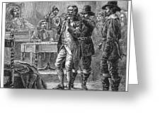 Puritan Punishment Greeting Card by Granger