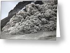 Pyroclastic Flow Descending The Flank Greeting Card
