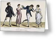 Quadrille, 1820 Greeting Card
