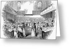 Quaker Meeting, 1843 Greeting Card