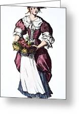 Quaker Woman 17th Century Greeting Card by Granger