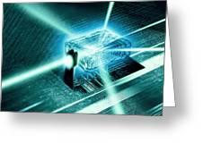 Quantum Computer Core Greeting Card