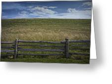 Rail Fence And Field Along The Blue Ridge Parkway Greeting Card