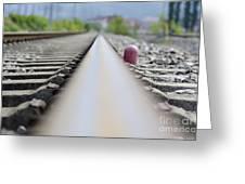 Railroad Tracks Greeting Card