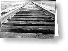 Railroad Tracks Greeting Card by Michael Ringwalt