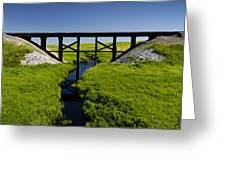Railroad Trestle Greeting Card