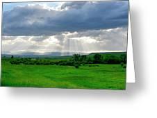 Rain Sun Rays Greeting Card