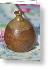 Rare John Regis Tuska Pottery Vase Greeting Card