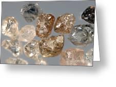 Raw Diamonds Greeting Card
