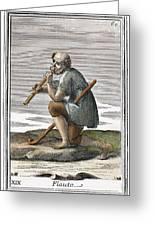 Recorder, 1723 Greeting Card