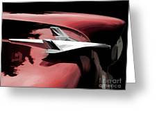 Red Chevy Jet Greeting Card