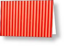 Red Corrugated Metal Greeting Card