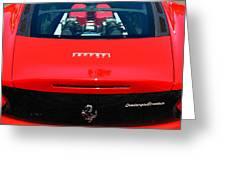 Red Ferrari Greeting Card