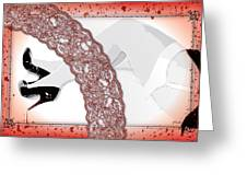 Red Lace And Killer Pumps Greeting Card