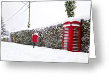 Red Phonebox In The Snow Greeting Card