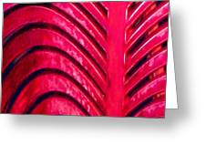 Red Ribs Greeting Card