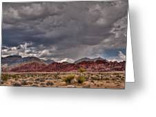 Red Rock Storm Greeting Card