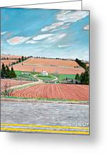 Red Soil On Prince Edward Island Greeting Card