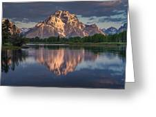 Reflections On Mount Moran Greeting Card