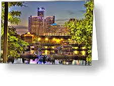 Renaissance Center Detroit Mi Greeting Card