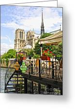 Restaurant On Seine Greeting Card
