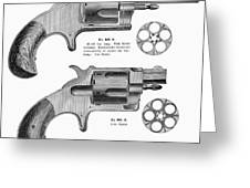 Revolvers, 19th Century Greeting Card