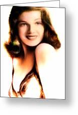 Rita Hayworth Greeting Card