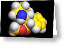 Ritalin Molecule Greeting Card
