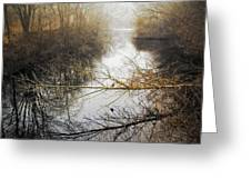 River In The Fog Greeting Card