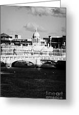 River Liffey Dublin City Center Greeting Card