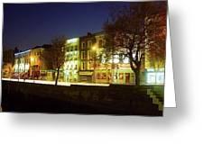 River Liffey, Dublin, Co Dublin, Ireland Greeting Card