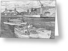 River Thames Art Greeting Card