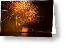 River Thames Fireworks Greeting Card