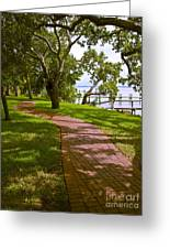 River Walk On The Indian River Lagoon Greeting Card