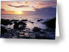 Rocks On The Beach, Giants Causeway Greeting Card
