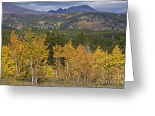 Rocky Mountain Autumn View Greeting Card