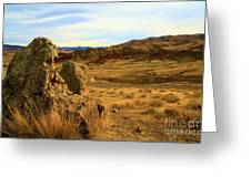 Rocky Painted Hills Greeting Card