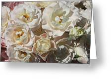 Romantic White Roses Greeting Card