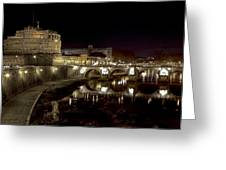Rome Ponte San Angelo Greeting Card