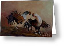Rooster Fight Greeting Card