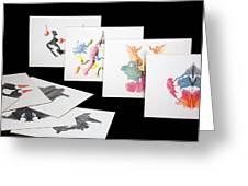 Rorshach Inkblot Test Greeting Card