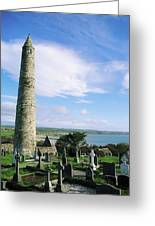 Round Tower, Ardmore, Co Waterford Greeting Card