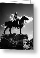 Royal Scots Greys Boer War Monument In Princes Street Gardens Edinburgh Scotland Uk United Kingdom Greeting Card